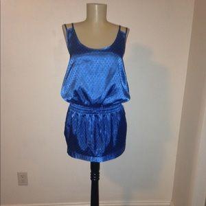 Slinky Slip Dress Blue polkadot dress Size Small